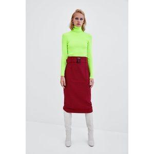 Zara Neon Green Yellow Turtleneck Sweater